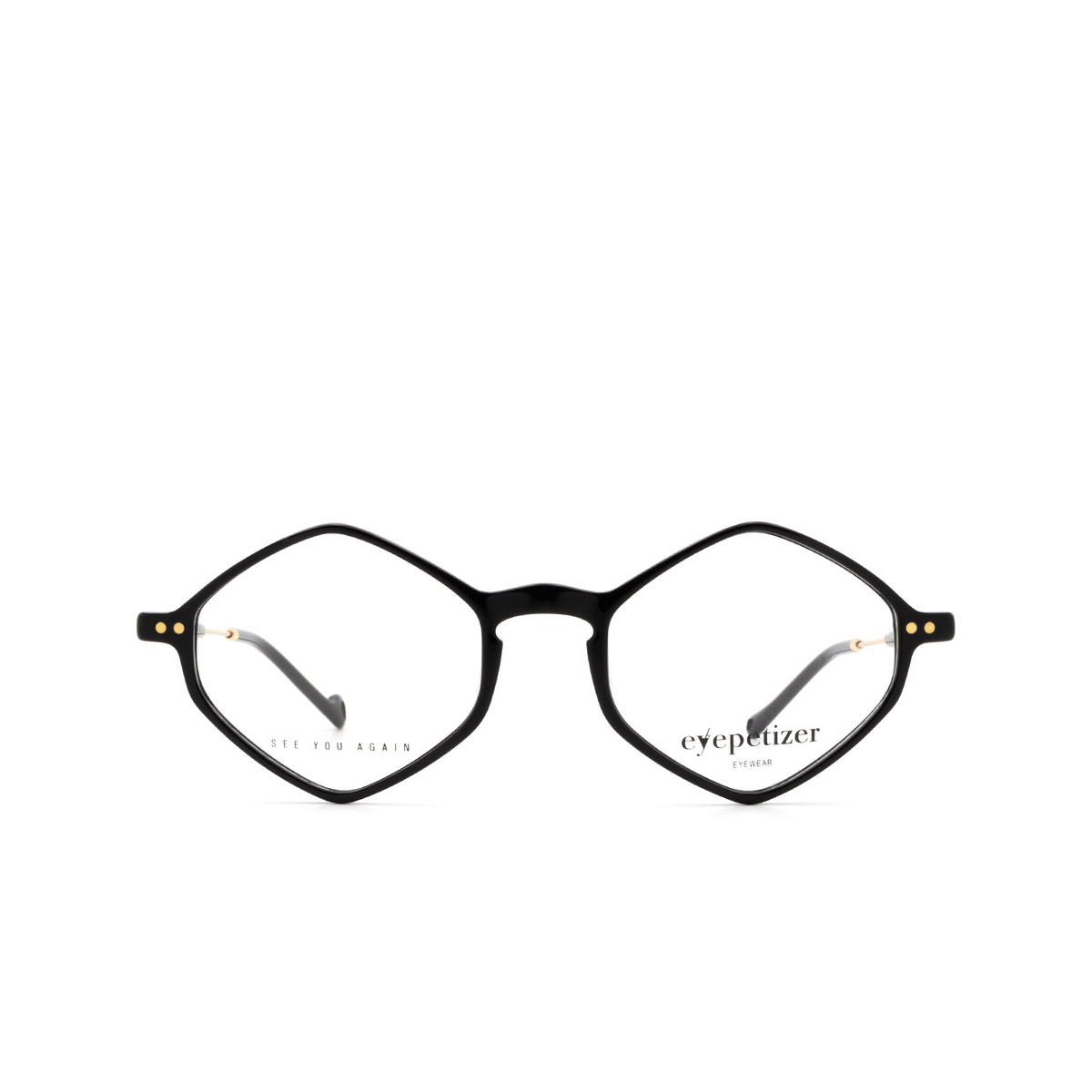 Eyepetizer® Irregular Eyeglasses: Douze color Black C.4-A.