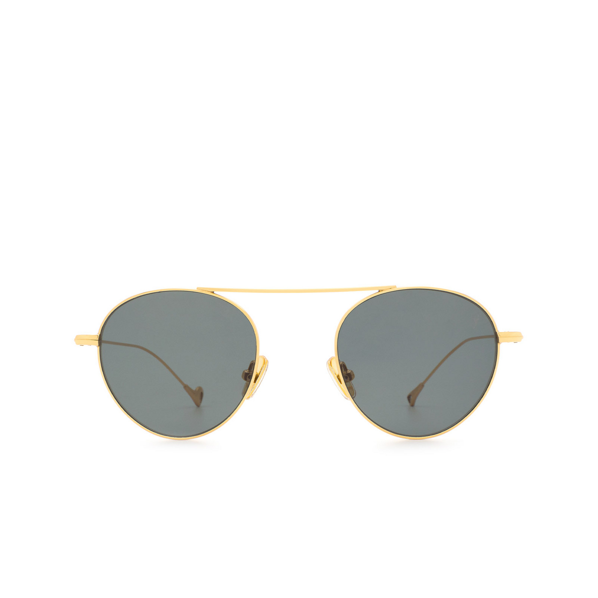 Eyepetizer® Round Sunglasses: En Bossa color Gold C.4-40 - front view.