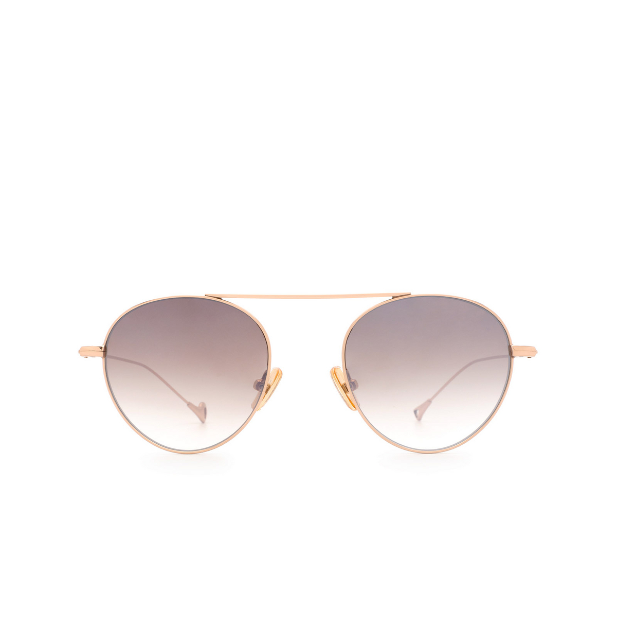 Eyepetizer® Round Sunglasses: En Bossa color Rose Gold C.9-18F.