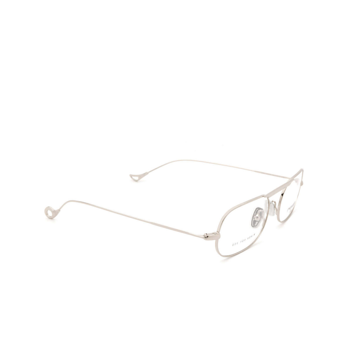 Eyepetizer® Oval Eyeglasses: Eric color Silver C.1 - three-quarters view.