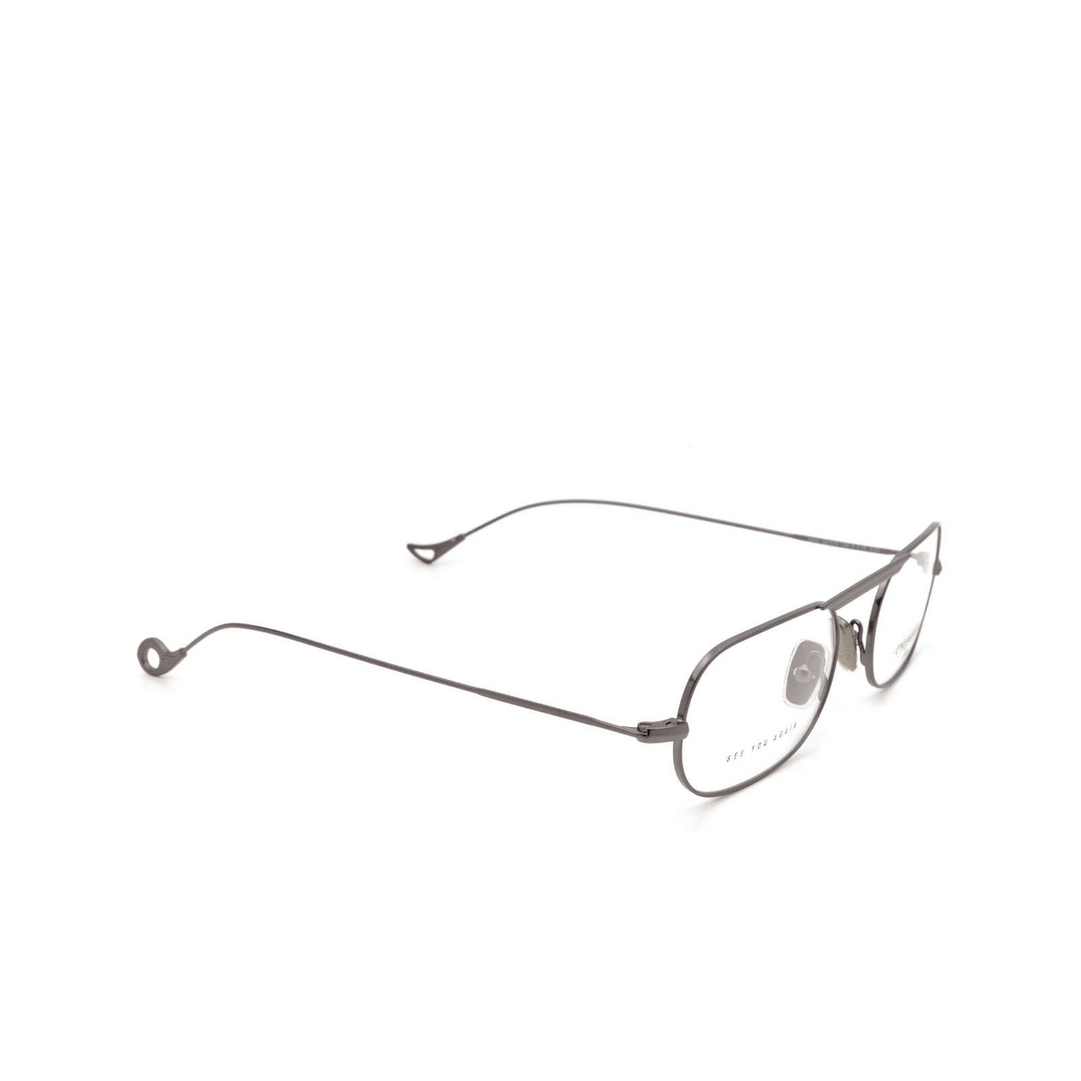 Eyepetizer® Oval Eyeglasses: Eric color Gun C.3 - three-quarters view.