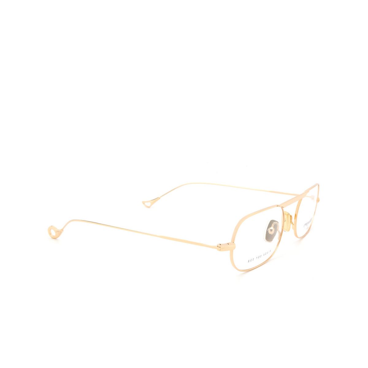 Eyepetizer® Oval Eyeglasses: Eric color Gold C.4 - three-quarters view.