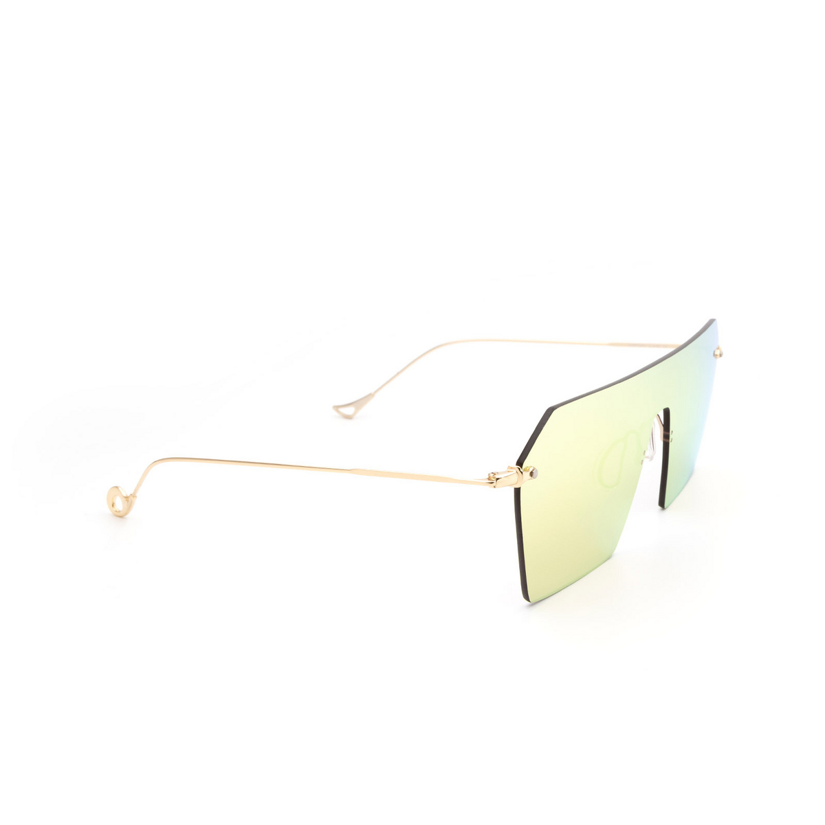 Eyepetizer® Mask Sunglasses: Fortuny color Gold C 2-8C - three-quarters view.