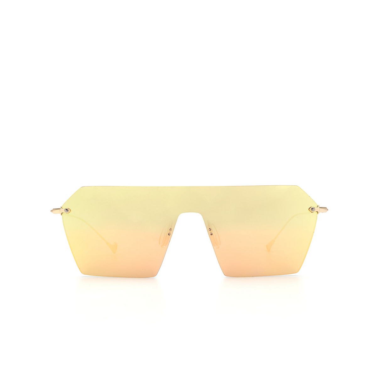 Eyepetizer® Mask Sunglasses: Fortuny color Gold C 2-8C - front view.