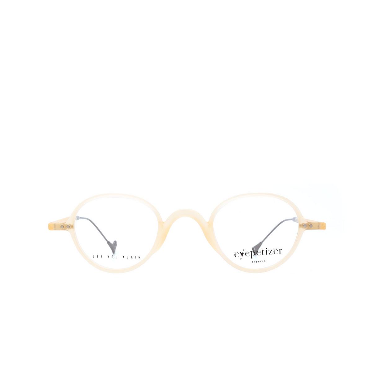 Eyepetizer® Oval Eyeglasses: Gerhard color Matte Honey C B-3 - front view.