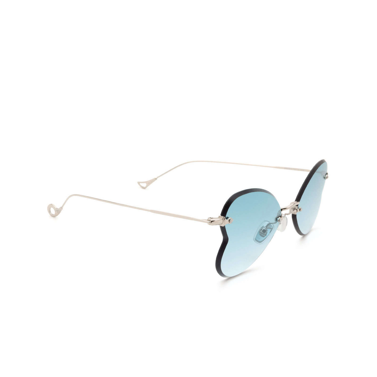 Eyepetizer® Irregular Sunglasses: Greta color Silver C.1-21 - three-quarters view.