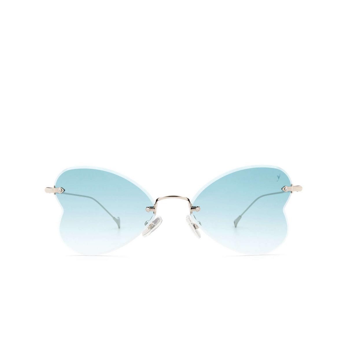 Eyepetizer® Irregular Sunglasses: Greta color Silver C.1-21 - front view.