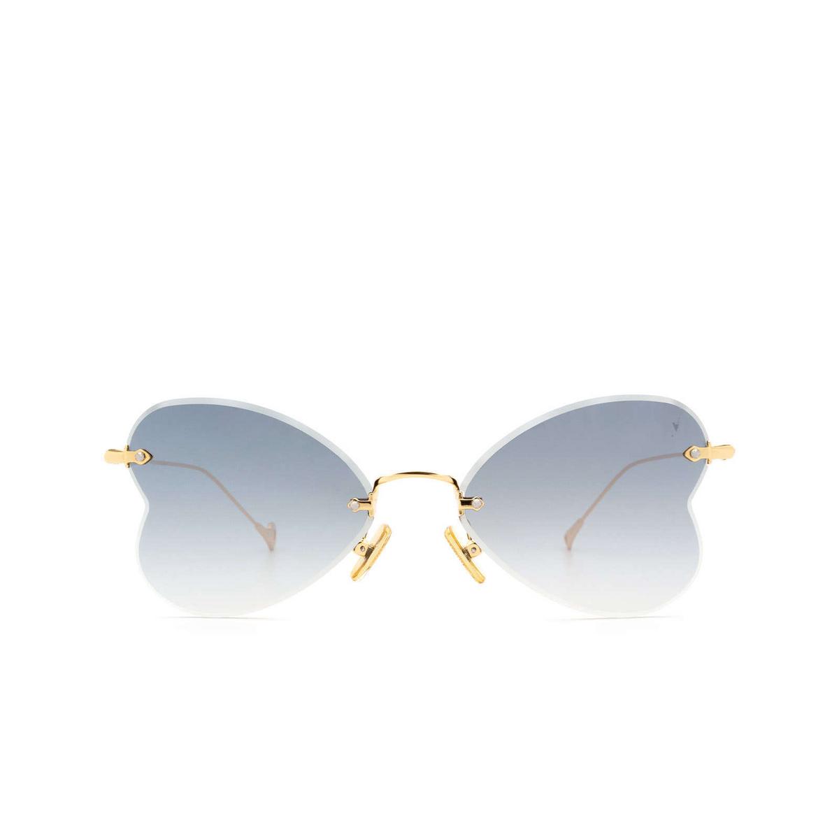 Eyepetizer® Irregular Sunglasses: Greta color Gold C.4-25F - front view.