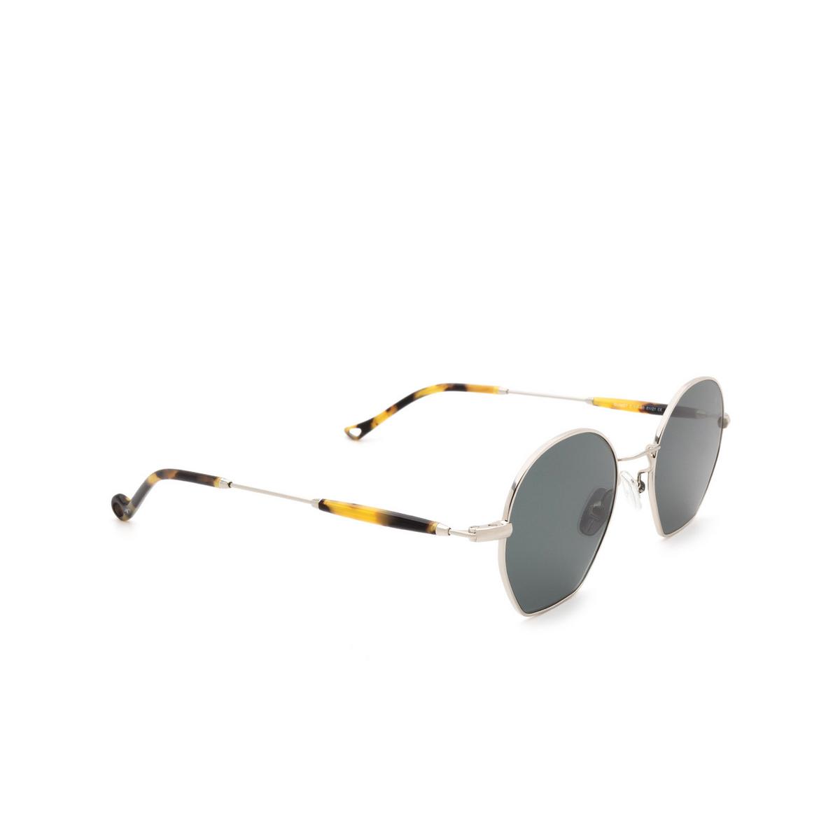Eyepetizer® Irregular Sunglasses: Guimet color Silver C.1-F-40 - three-quarters view.