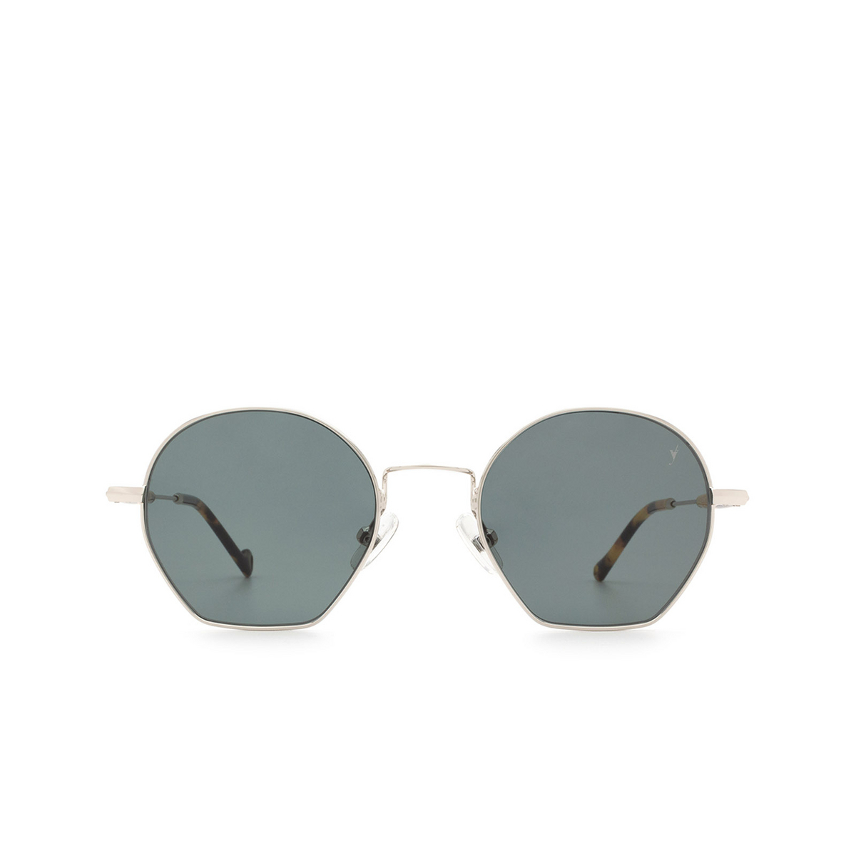 Eyepetizer® Irregular Sunglasses: Guimet color Silver C.1-F-40 - front view.