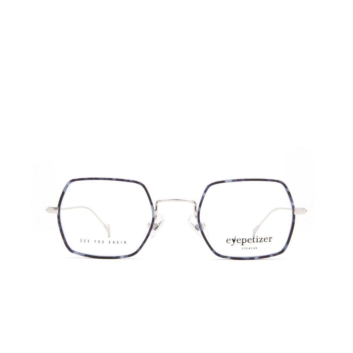 Eyepetizer® Square Eyeglasses: Hugo color Blue Havana C 1-K.