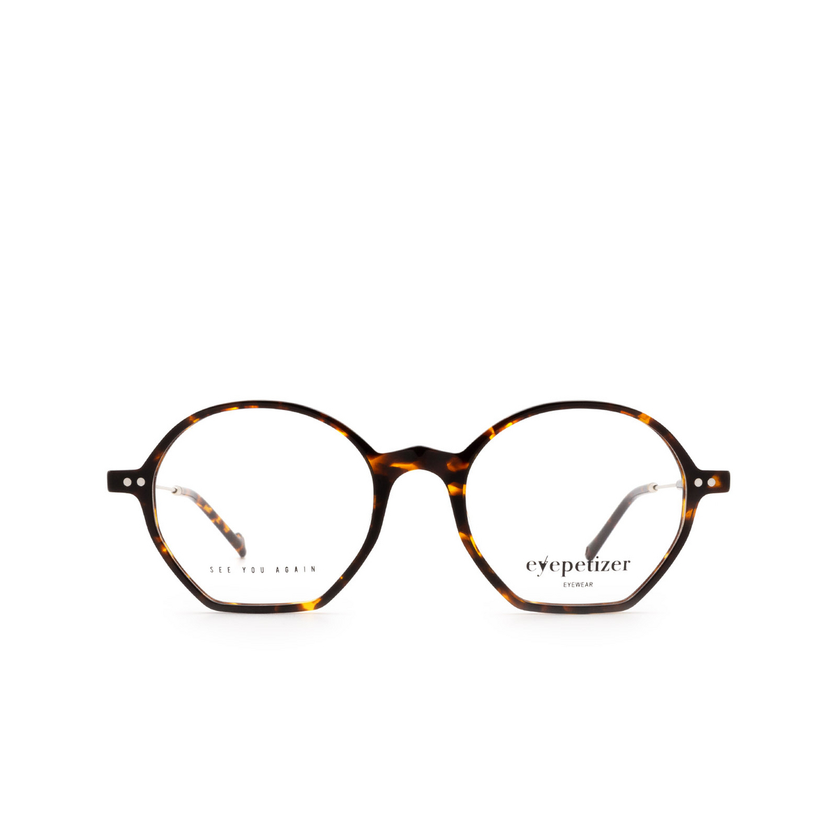 Eyepetizer® Irregular Eyeglasses: Huit color Dark Havana C.1-I.