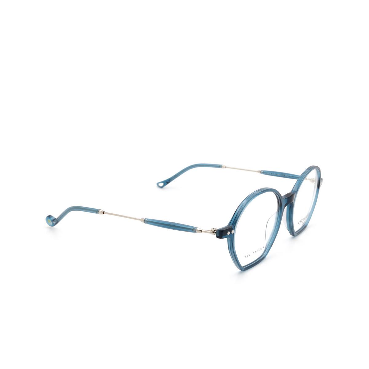 Eyepetizer® Irregular Eyeglasses: Huit color Transparent Blue C.1-Z.