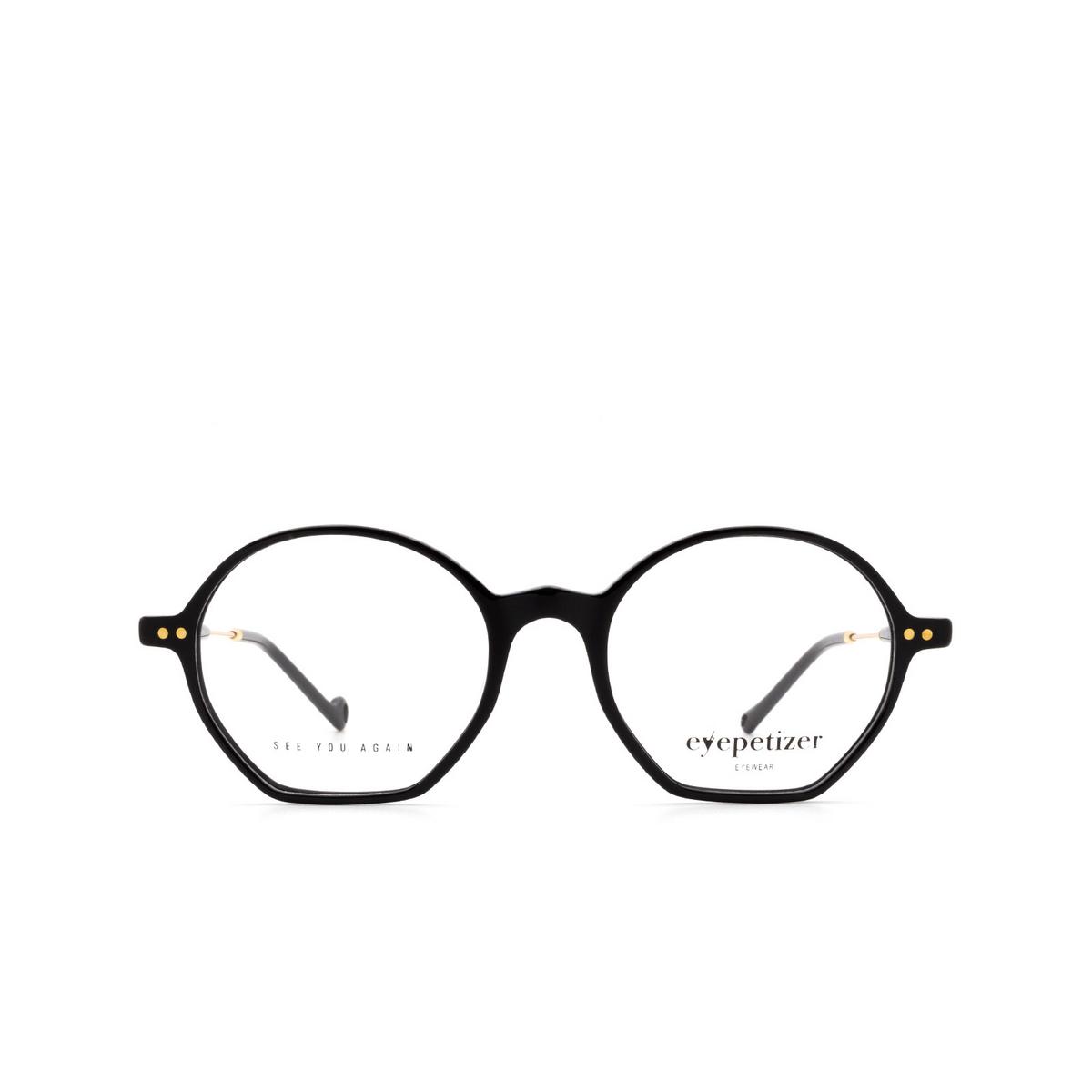 Eyepetizer® Irregular Eyeglasses: Huit color Black C.4-A.