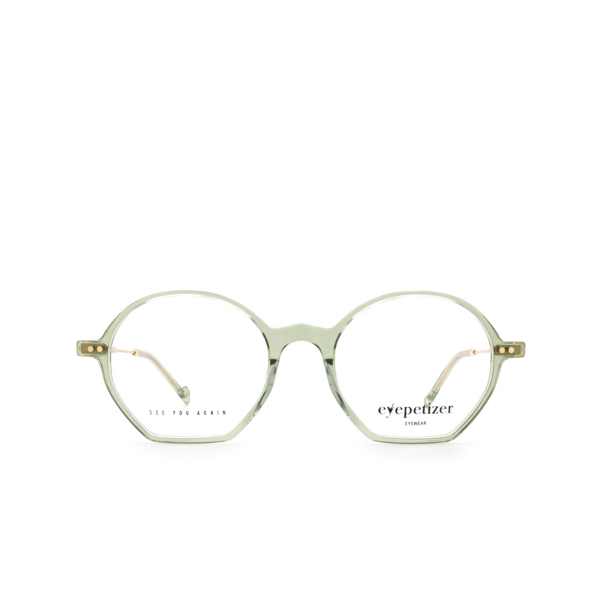 Eyepetizer® Irregular Eyeglasses: Huit color Green Sage C.4-E/E.