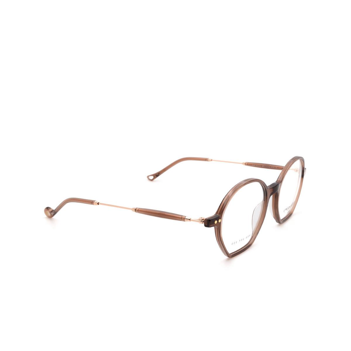 Eyepetizer® Irregular Eyeglasses: Huit color Brown C.9-D/D.
