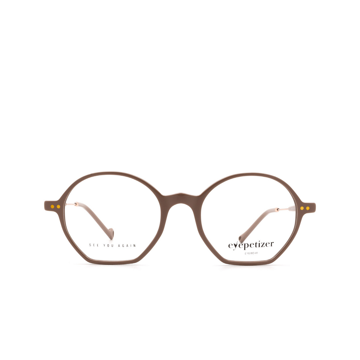 Eyepetizer® Irregular Eyeglasses: Huit color Beige C.9-E.