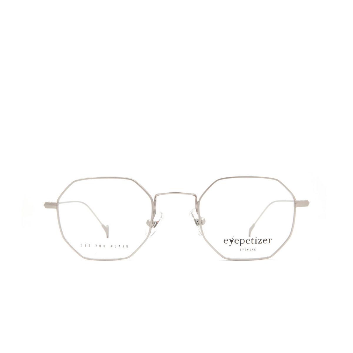 Eyepetizer® Irregular Eyeglasses: Ian color Matte Grey C 1-OP.