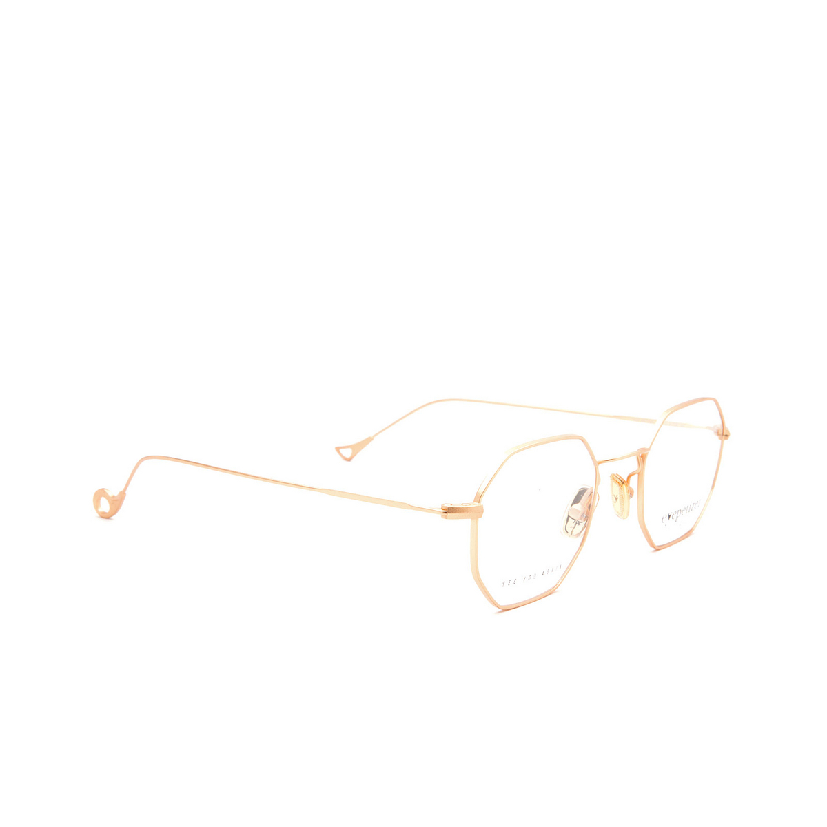 Eyepetizer® Irregular Eyeglasses: Ian color Matte Gold C 4-OP.