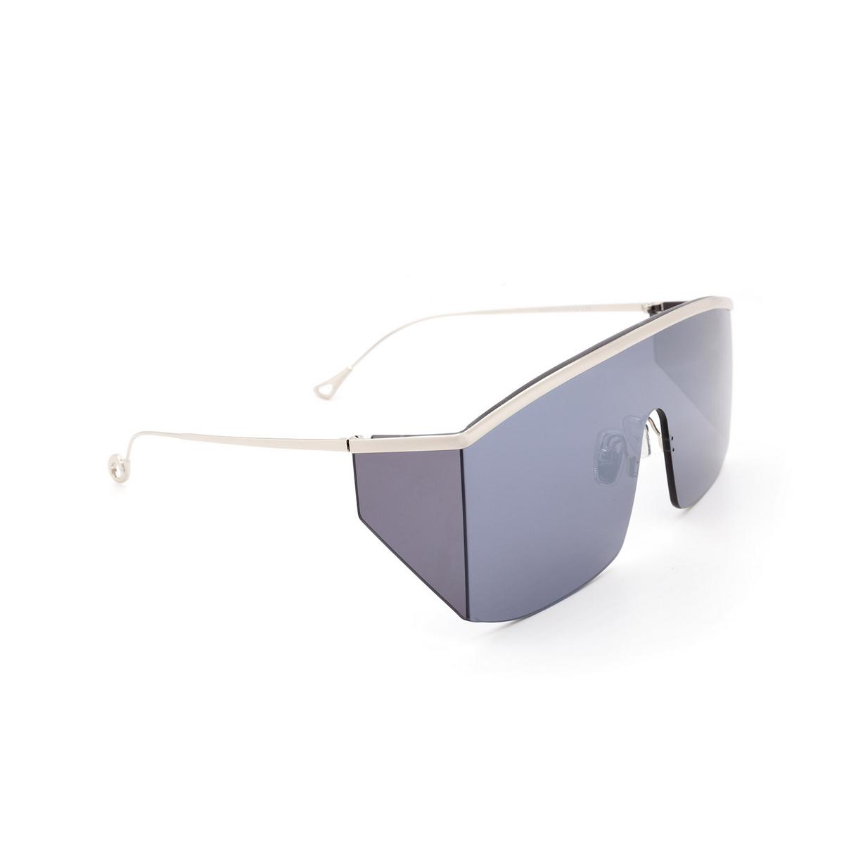Eyepetizer® Mask Sunglasses: Karl color Silver C.1-7F - three-quarters view.