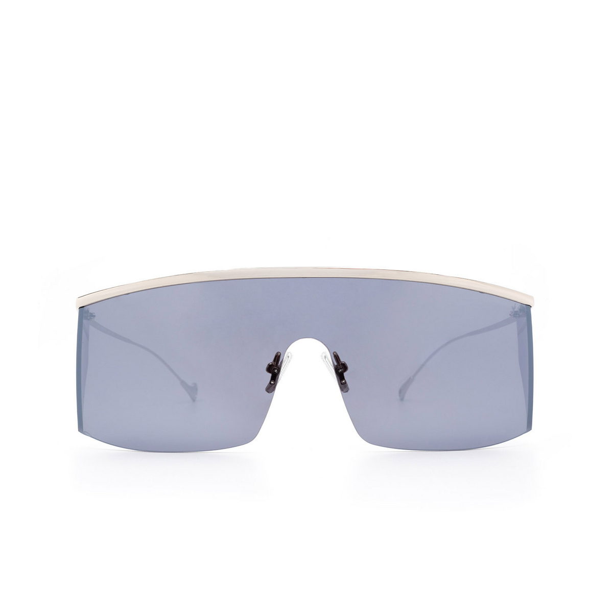 Eyepetizer® Mask Sunglasses: Karl color Silver C.1-7F - front view.