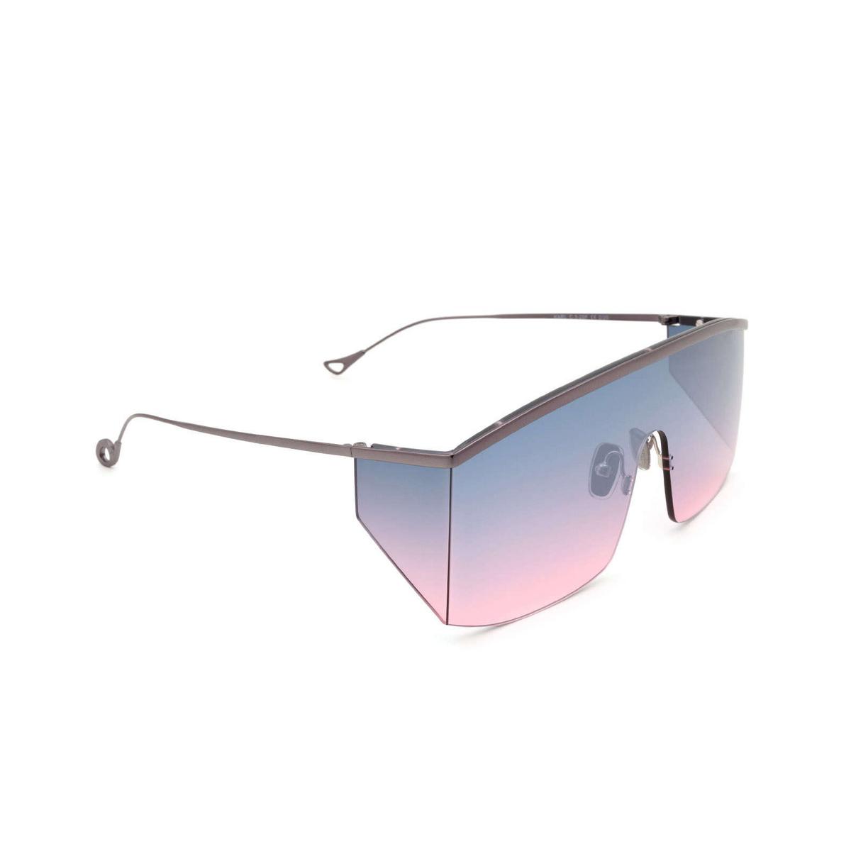 Eyepetizer® Mask Sunglasses: Karl color Gunmetal C.3-20F - three-quarters view.