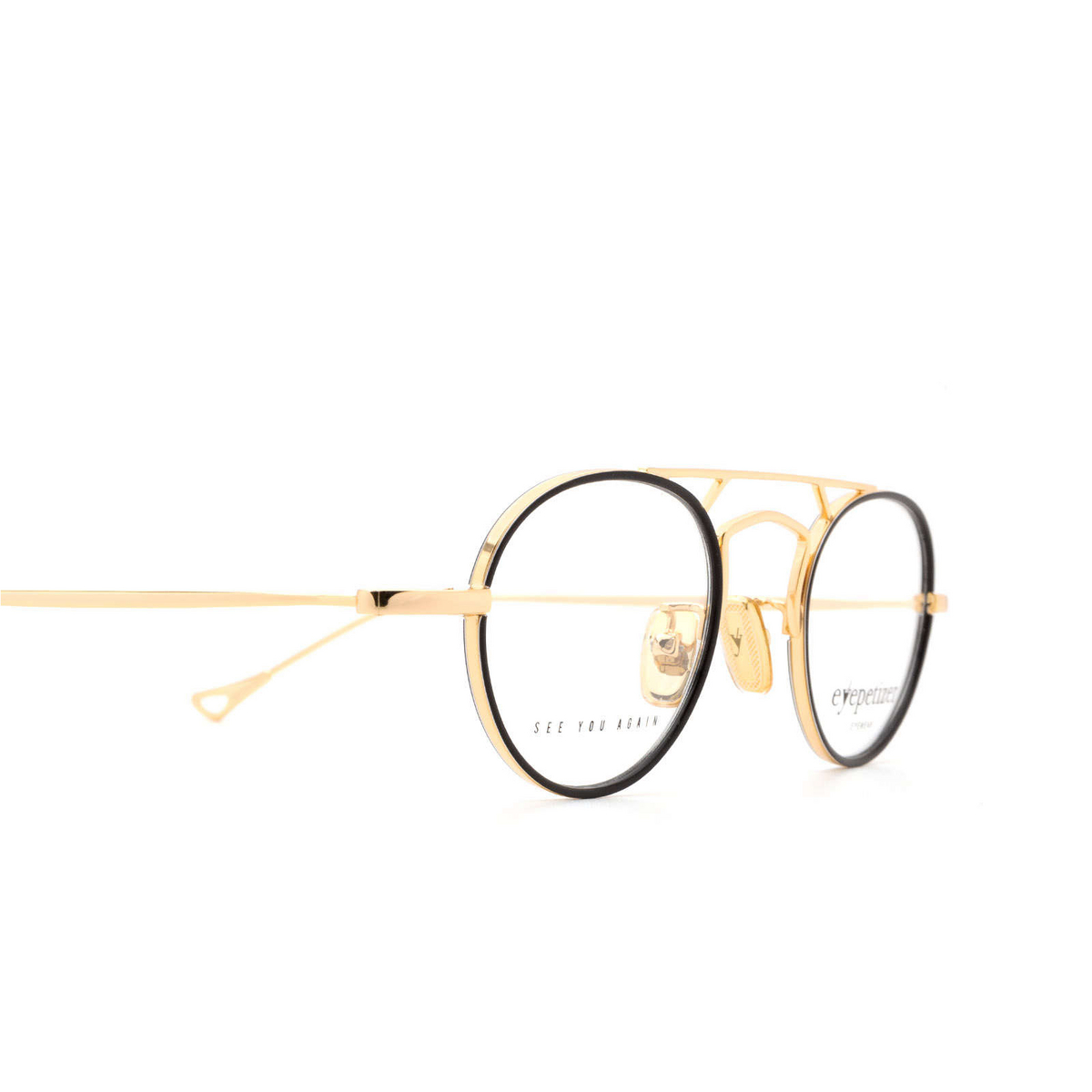 Eyepetizer® Round Eyeglasses: Kilian color Black C.4-F.