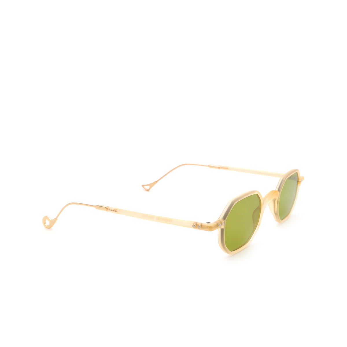 Eyepetizer® Irregular Sunglasses: Lauren color Matte Honey C.B-4-1 - three-quarters view.