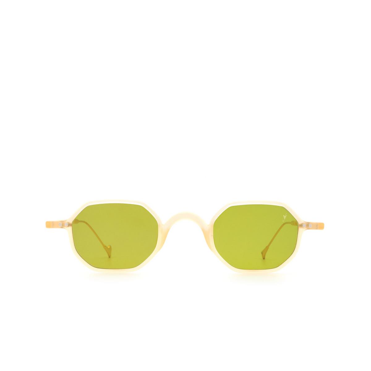 Eyepetizer® Irregular Sunglasses: Lauren color Matte Honey C.B-4-1 - front view.