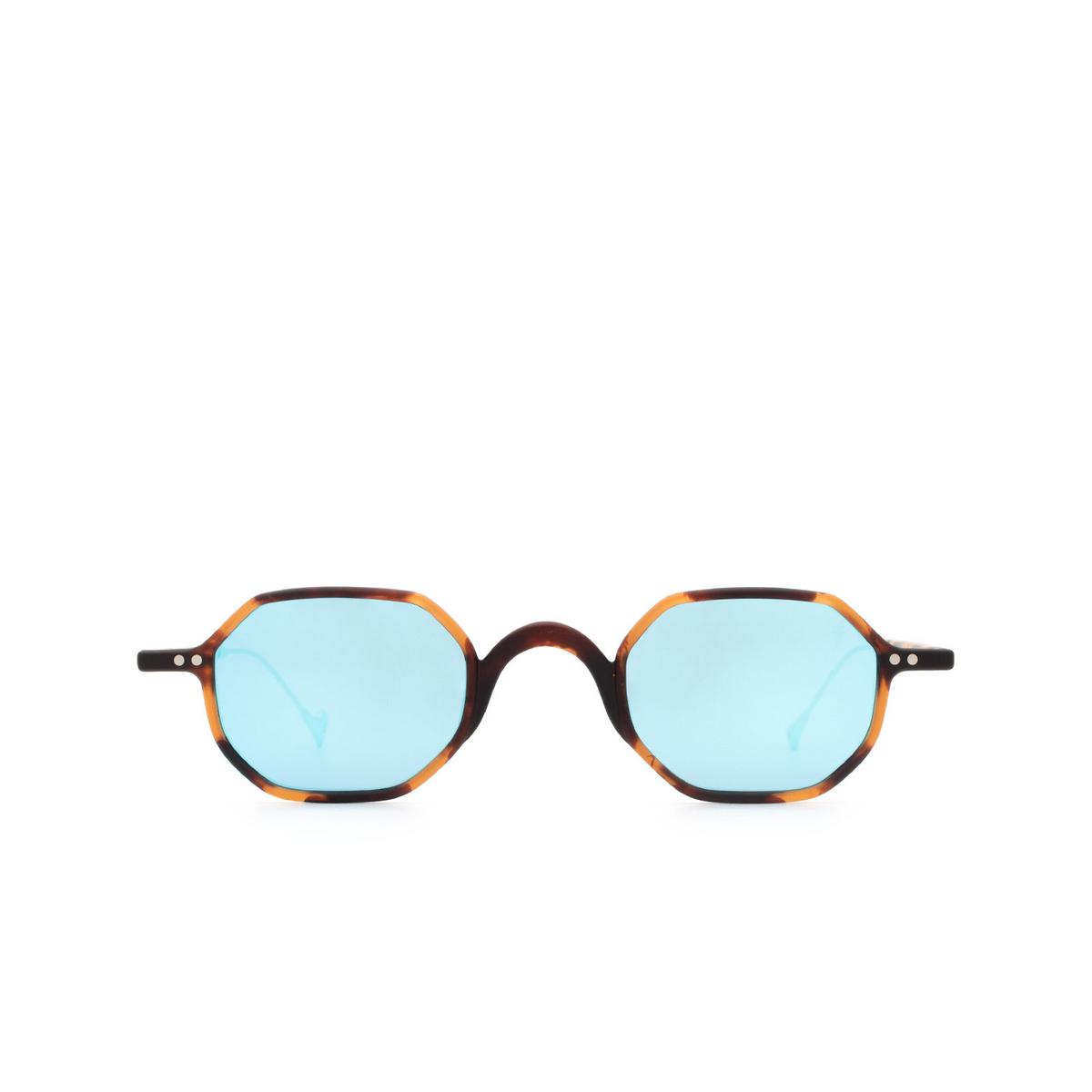 Eyepetizer® Irregular Sunglasses: Lauren color Matte Dark Havana C.G-38 - front view.