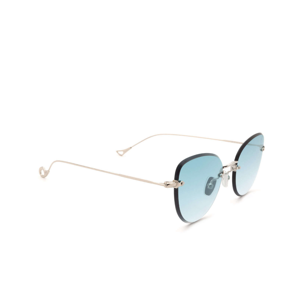 Eyepetizer® Butterfly Sunglasses: Liz color Silver C.1-21 - three-quarters view.