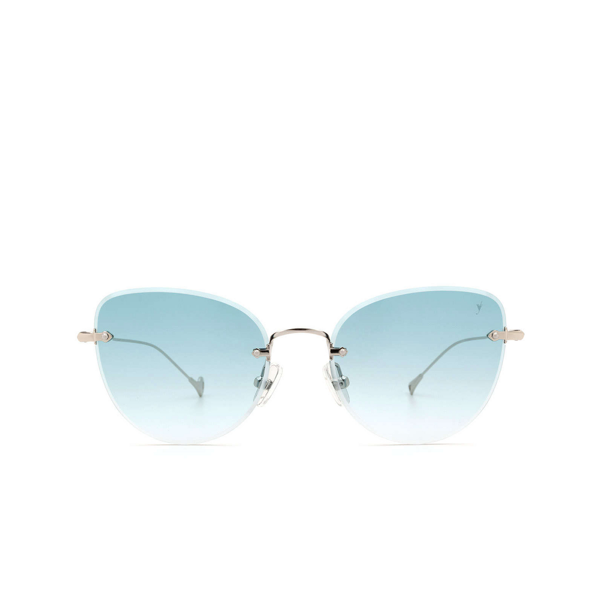 Eyepetizer® Butterfly Sunglasses: Liz color Silver C.1-21 - front view.