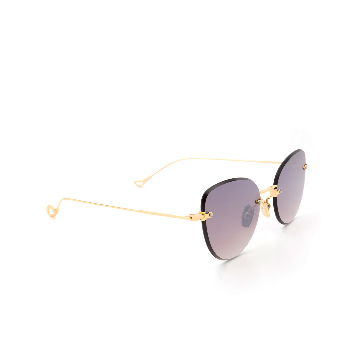 Eyepetizer® Butterfly Sunglasses: Liz color Gold C.4-18F - three-quarters view.