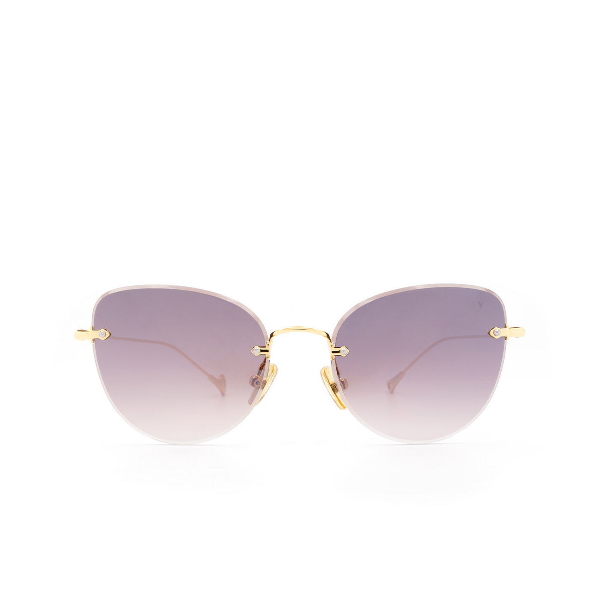Eyepetizer® Butterfly Sunglasses: Liz color Gold C.4-18F - front view.