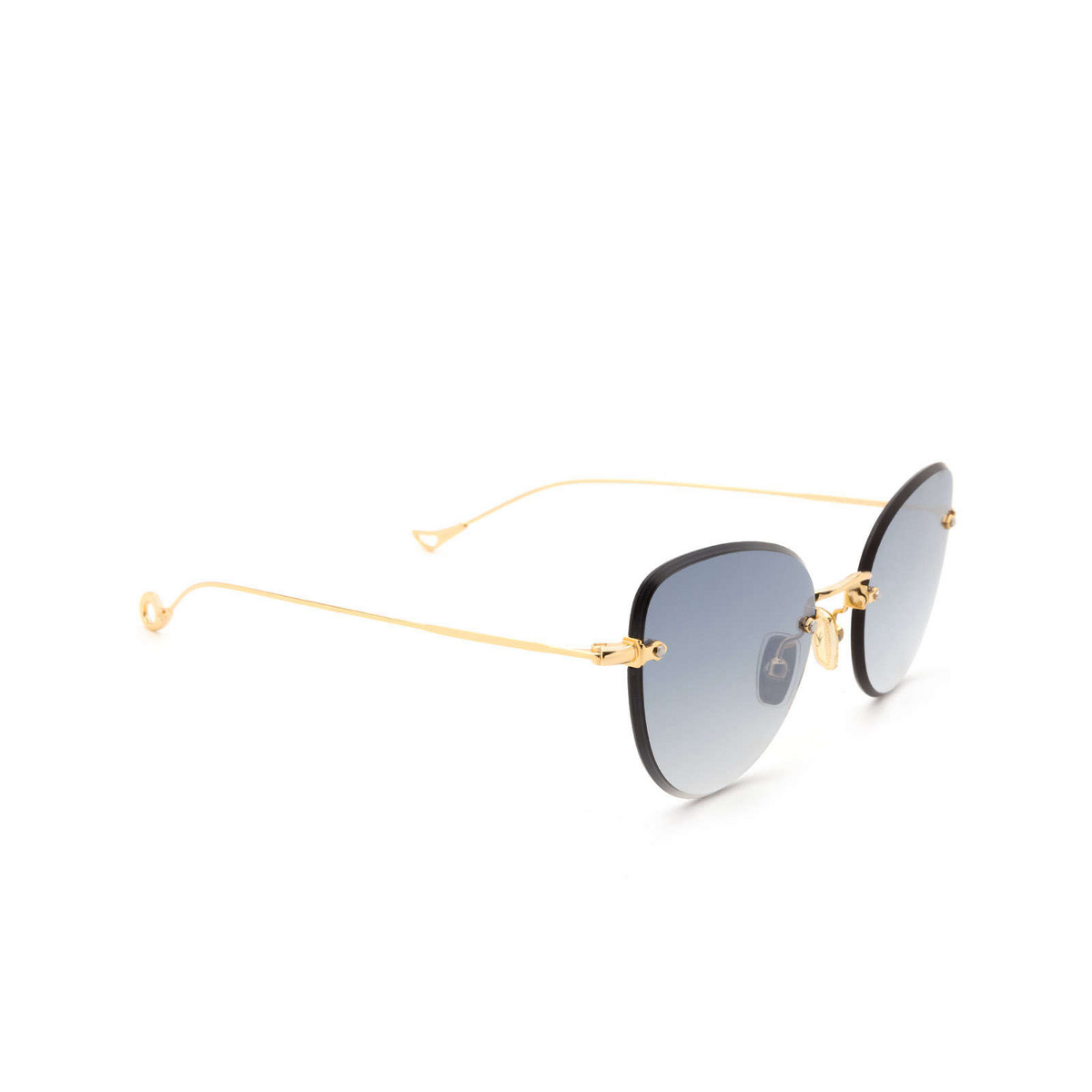 Eyepetizer® Butterfly Sunglasses: Liz color Gold C.4-25F - three-quarters view.