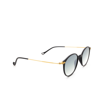 Eyepetizer® Round Sunglasses: Longisland color Black C.A-4-25F.
