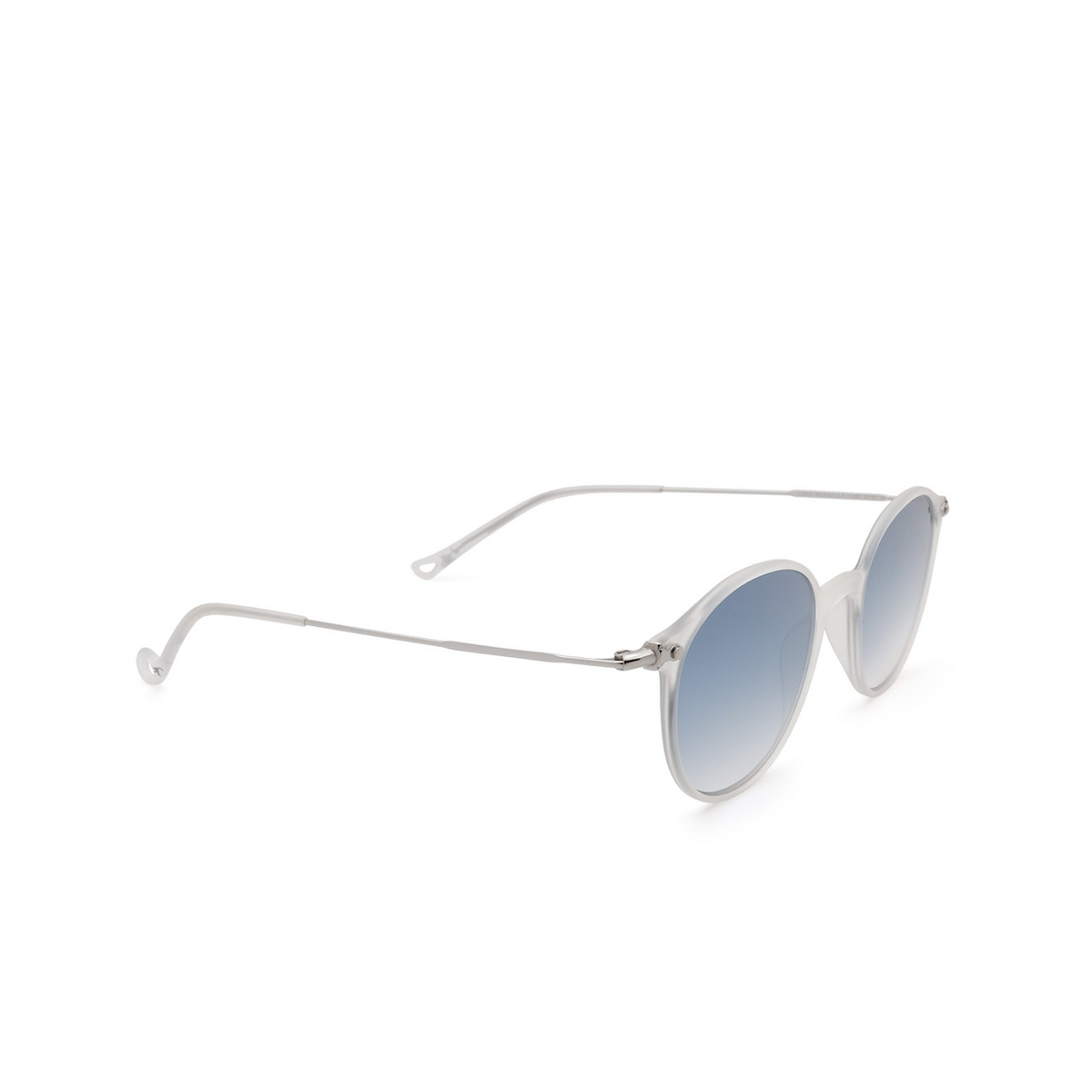 Eyepetizer® Round Sunglasses: Longisland color Crystal C.F-1-26F - three-quarters view.