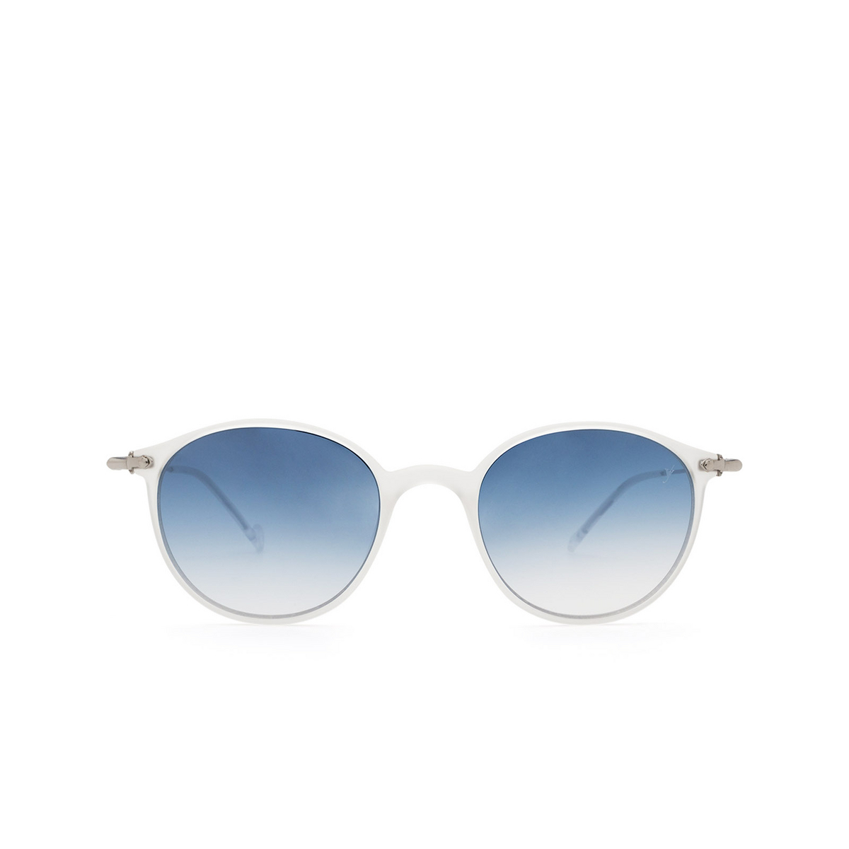 Eyepetizer® Round Sunglasses: Longisland color Crystal C.F-1-26F - front view.
