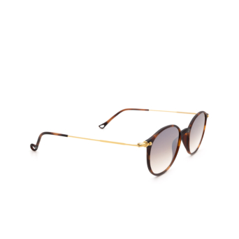 Eyepetizer® Round Sunglasses: Longisland color Dark Havana C.G-4-18F.