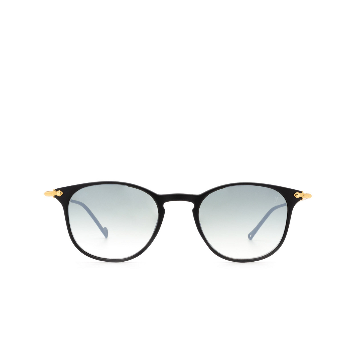 Eyepetizer® Square Sunglasses: Montauk color Black C.A-4-25F - front view.