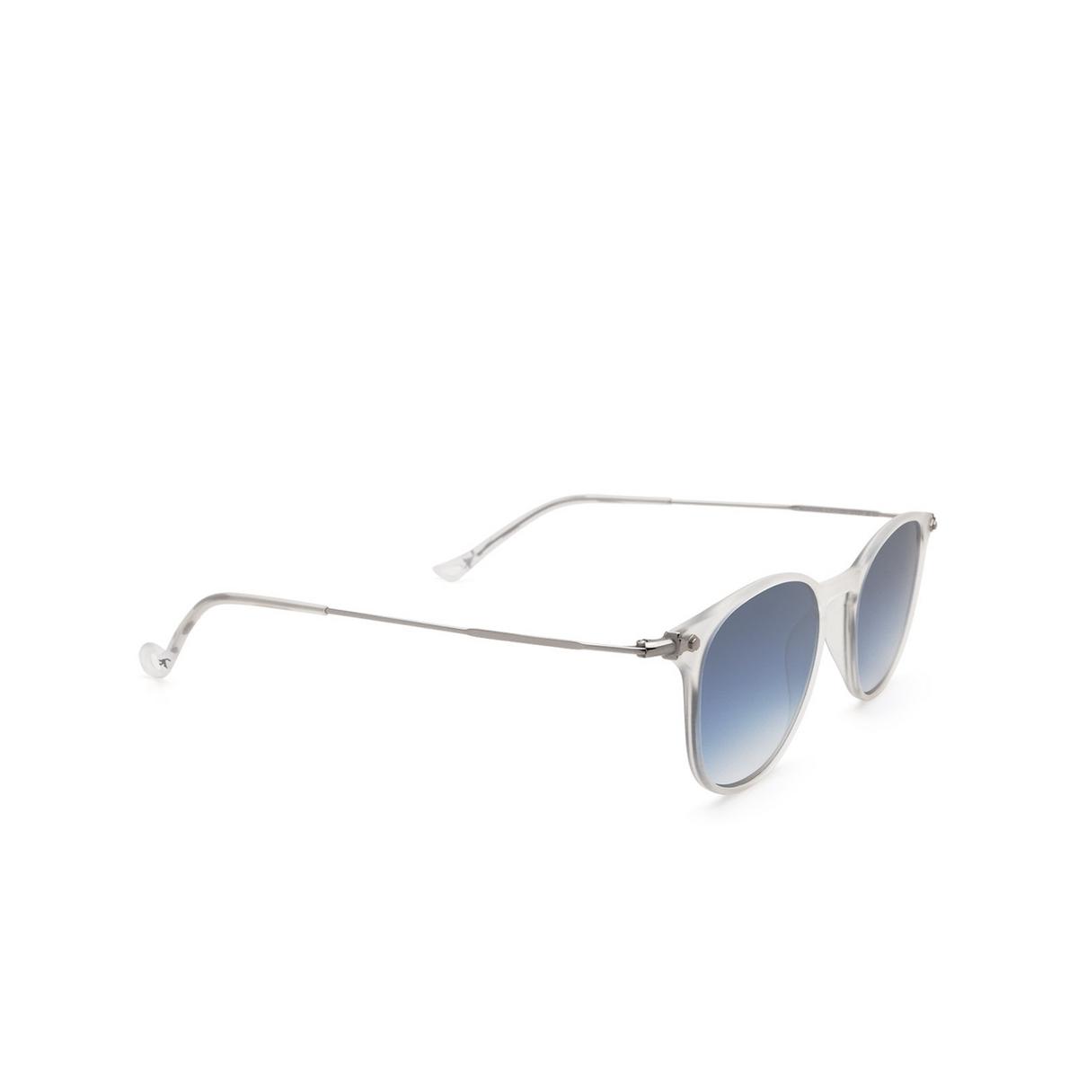 Eyepetizer® Square Sunglasses: Montauk color Crystal C.F-1-26F - three-quarters view.