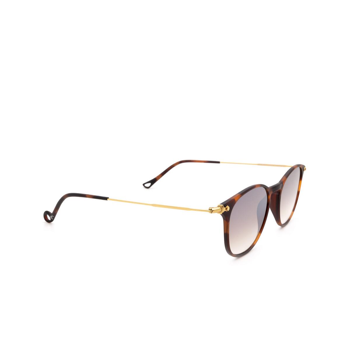 Eyepetizer® Square Sunglasses: Montauk color Dark Havana C.G-4-18F.