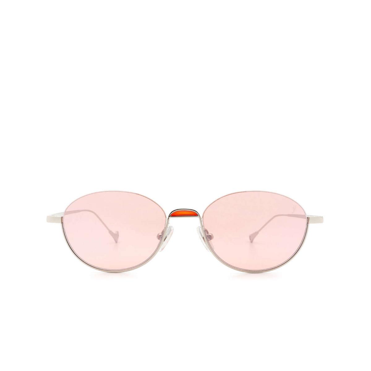 Eyepetizer® Oval Sunglasses: Narita color Silver C.1-28F.