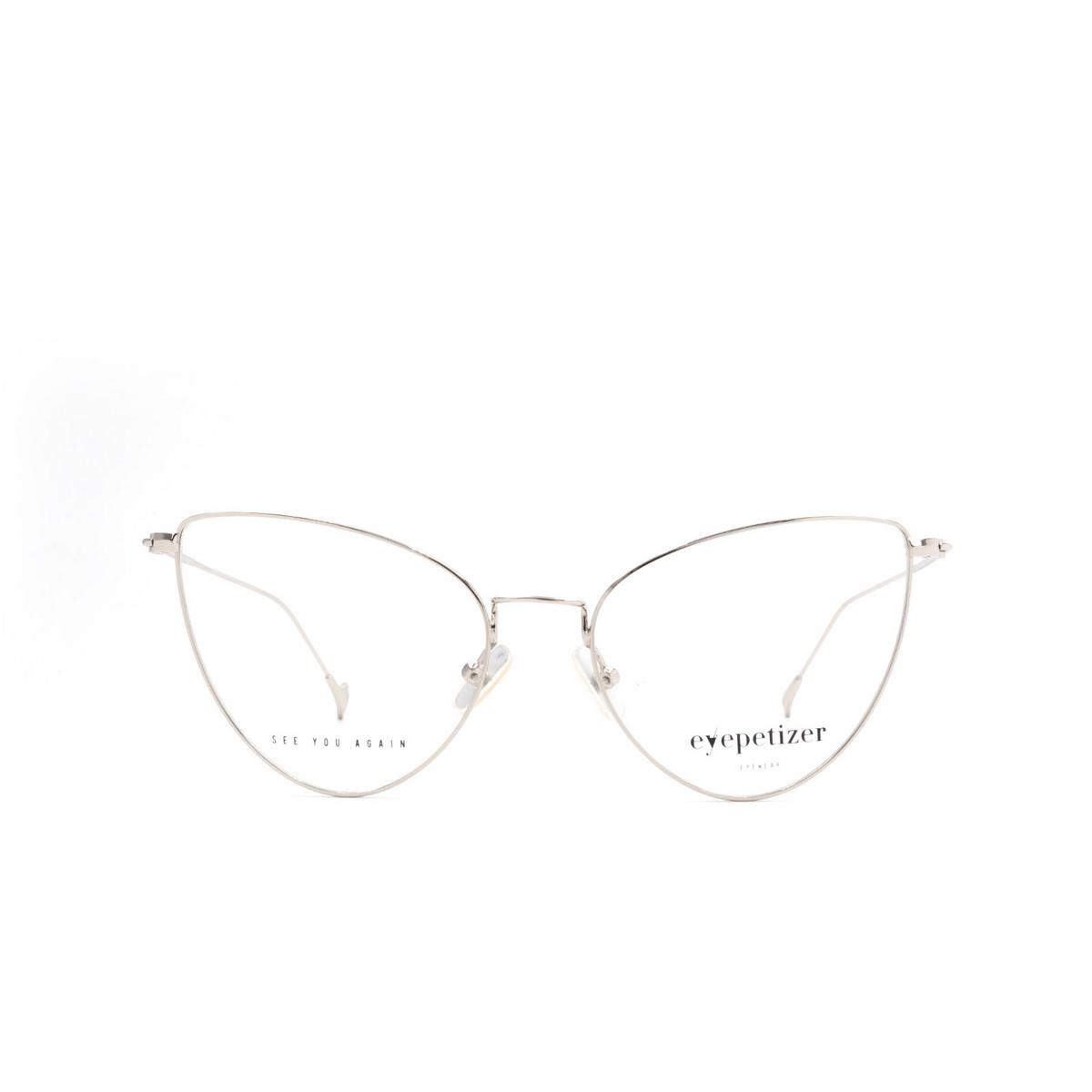 Eyepetizer® Cat-eye Eyeglasses: Natalia color Silver C 1.
