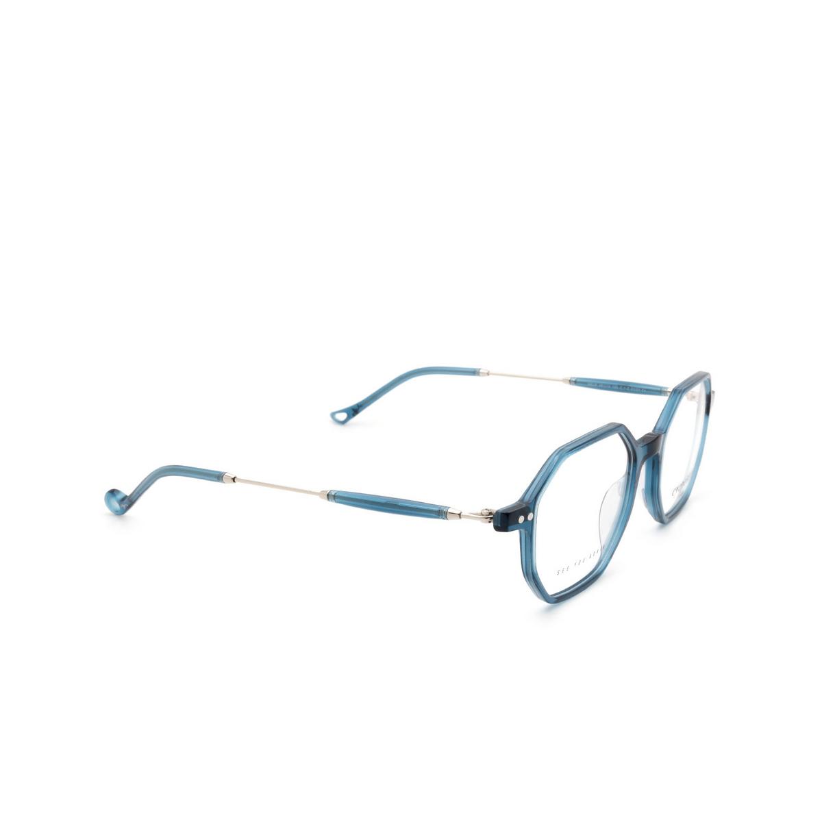 Eyepetizer® Irregular Eyeglasses: Neuf color Transparent Blue C.1-Z.