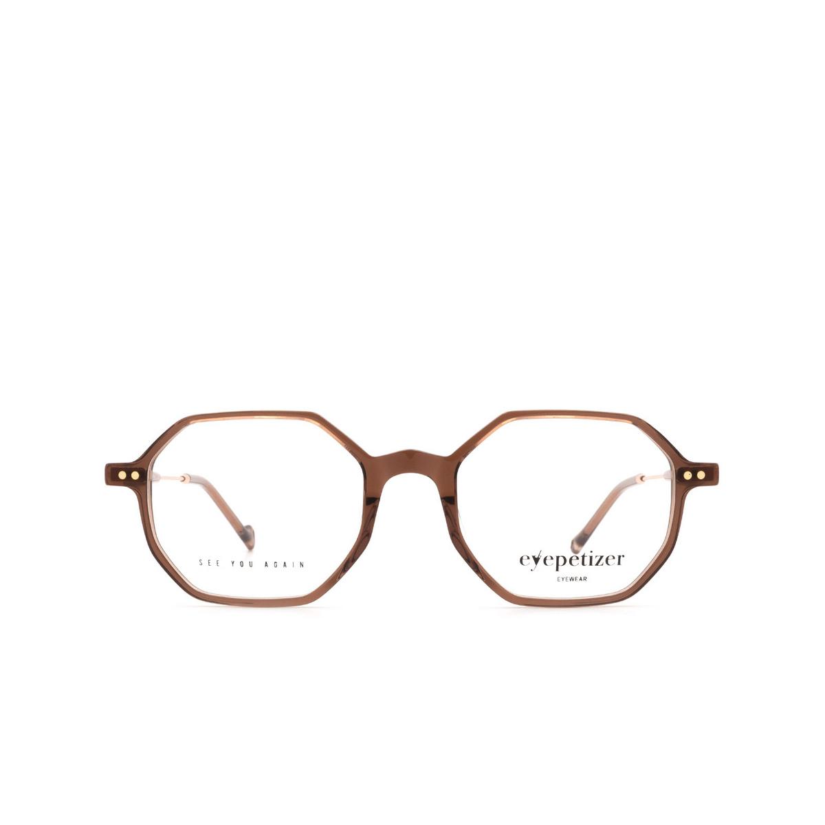Eyepetizer® Irregular Eyeglasses: Neuf color Brown C.9-D/D.
