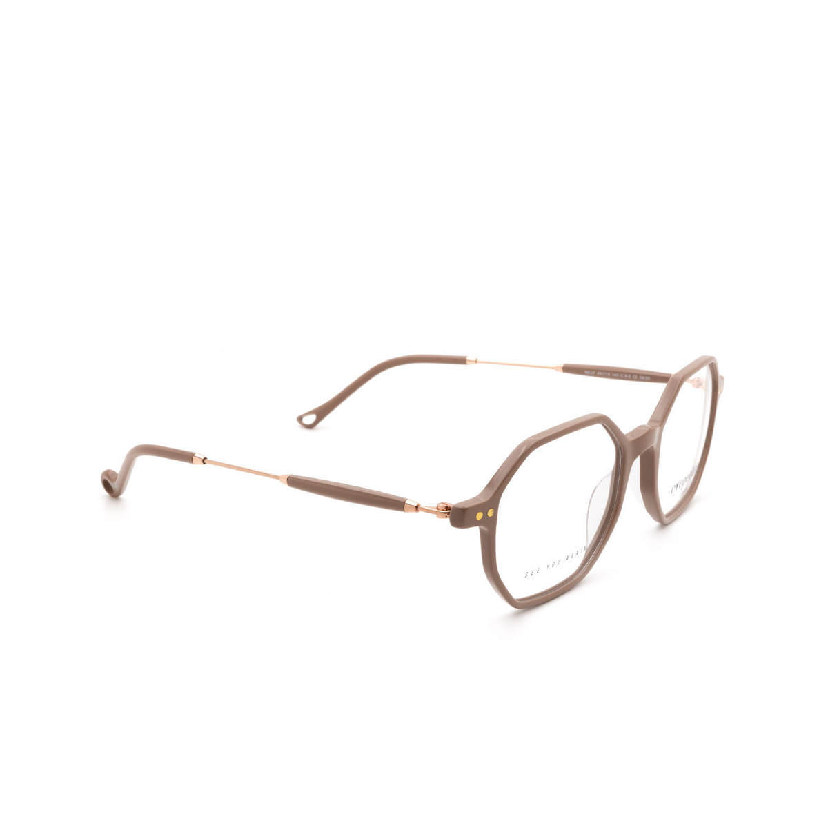 Eyepetizer® Irregular Eyeglasses: Neuf color Beige C.9-E.