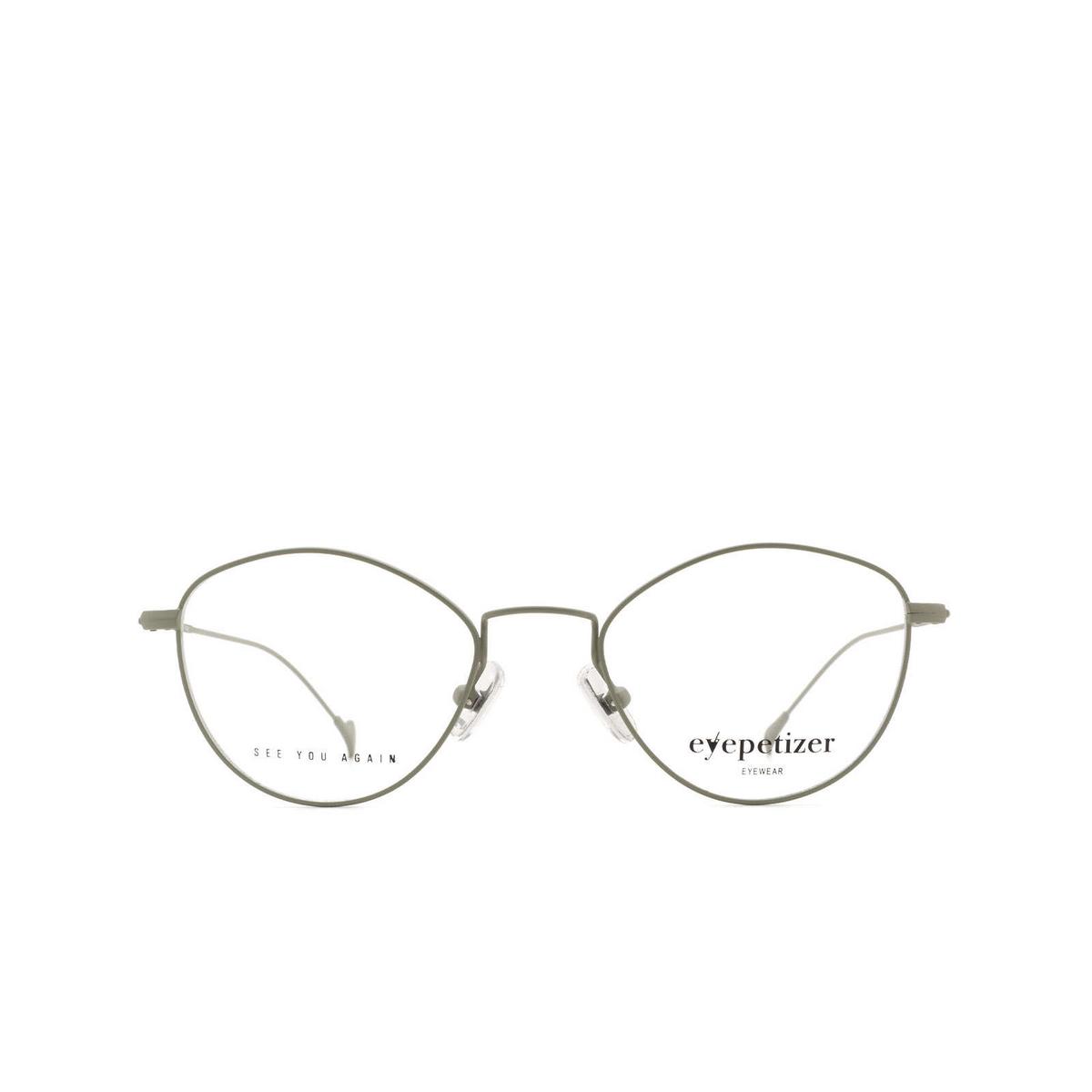 Eyepetizer® Irregular Eyeglasses: Nicole color Sage Green C.10.