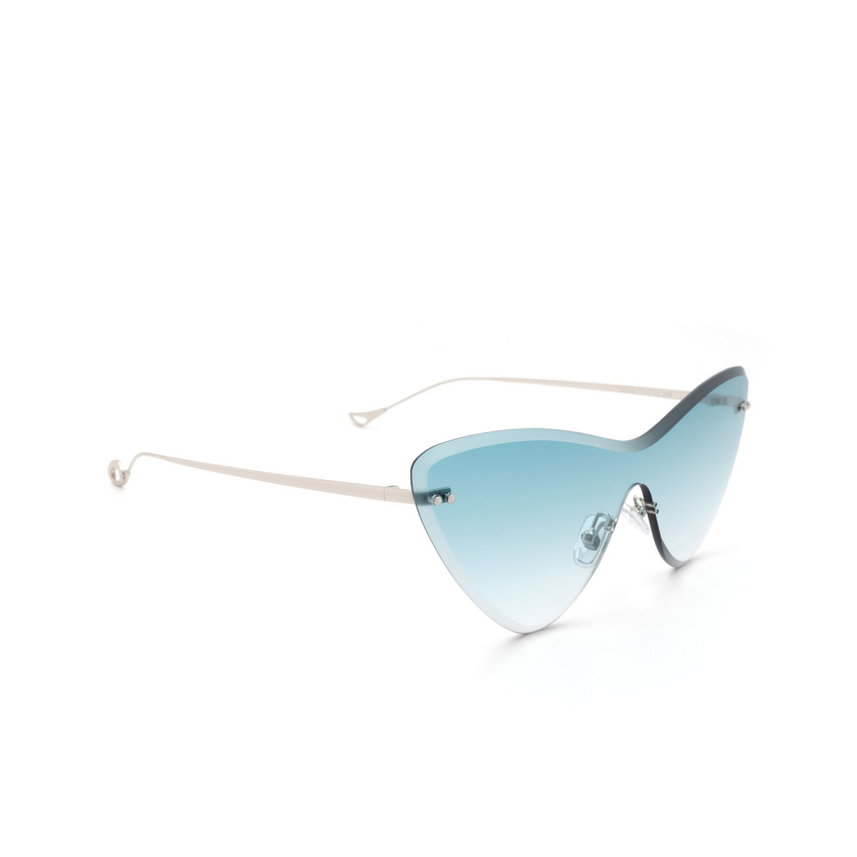 Eyepetizer® Mask Sunglasses: Ocean color Silver C.1-21 - three-quarters view.