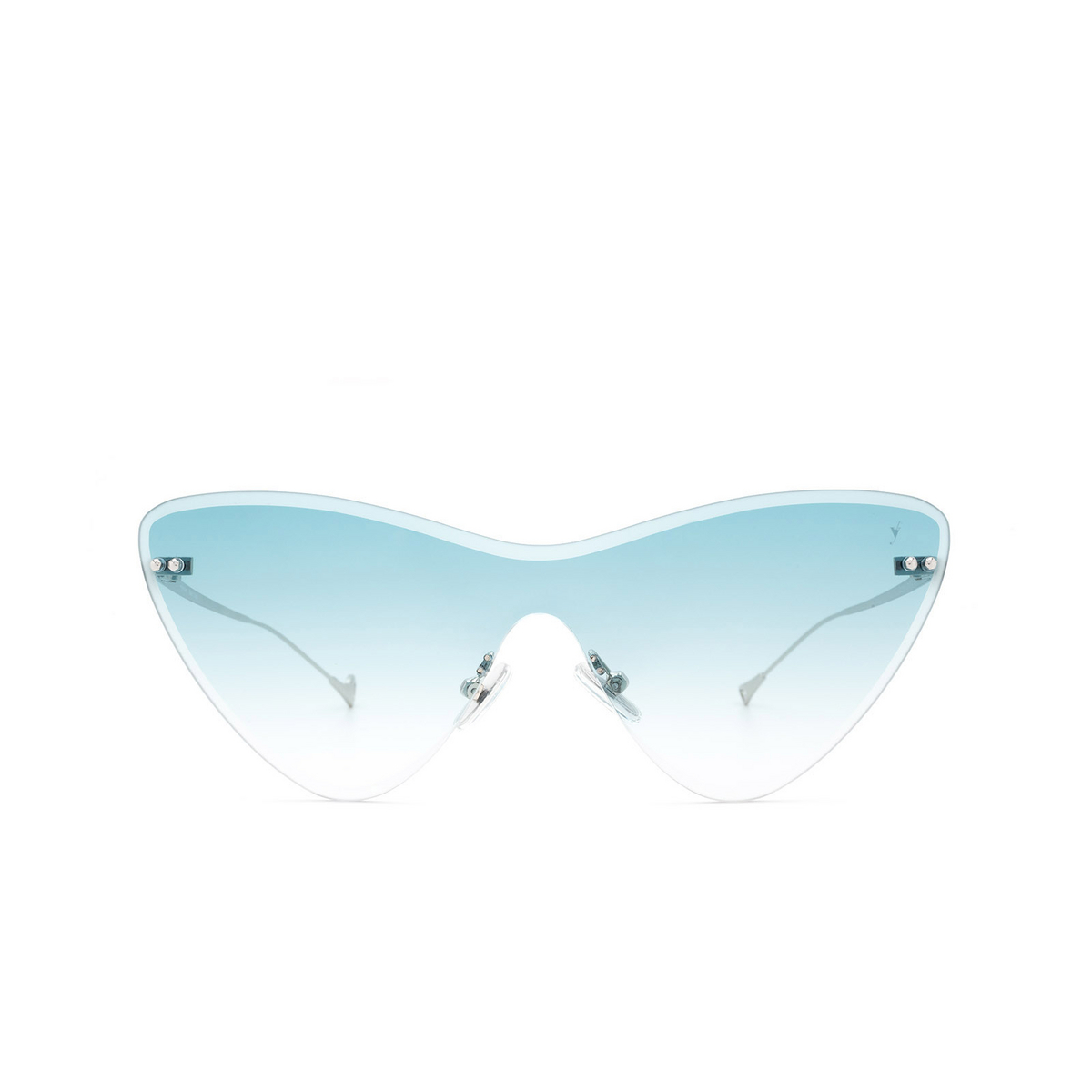 Eyepetizer® Mask Sunglasses: Ocean color Silver C.1-21 - front view.
